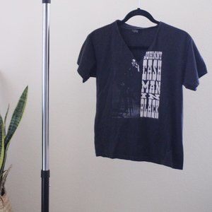 Johnny Cash Man In Black Band Tee Size Large
